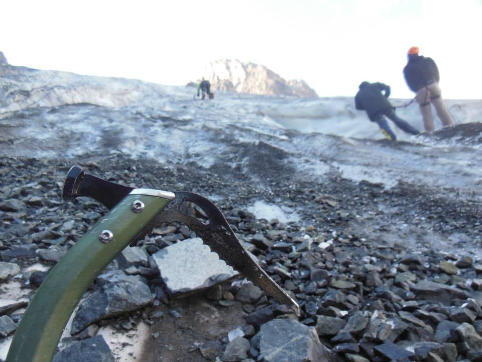 Buzul top-rope tırmanıldı