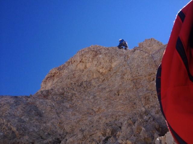 İlk ip boyunda tırmanış