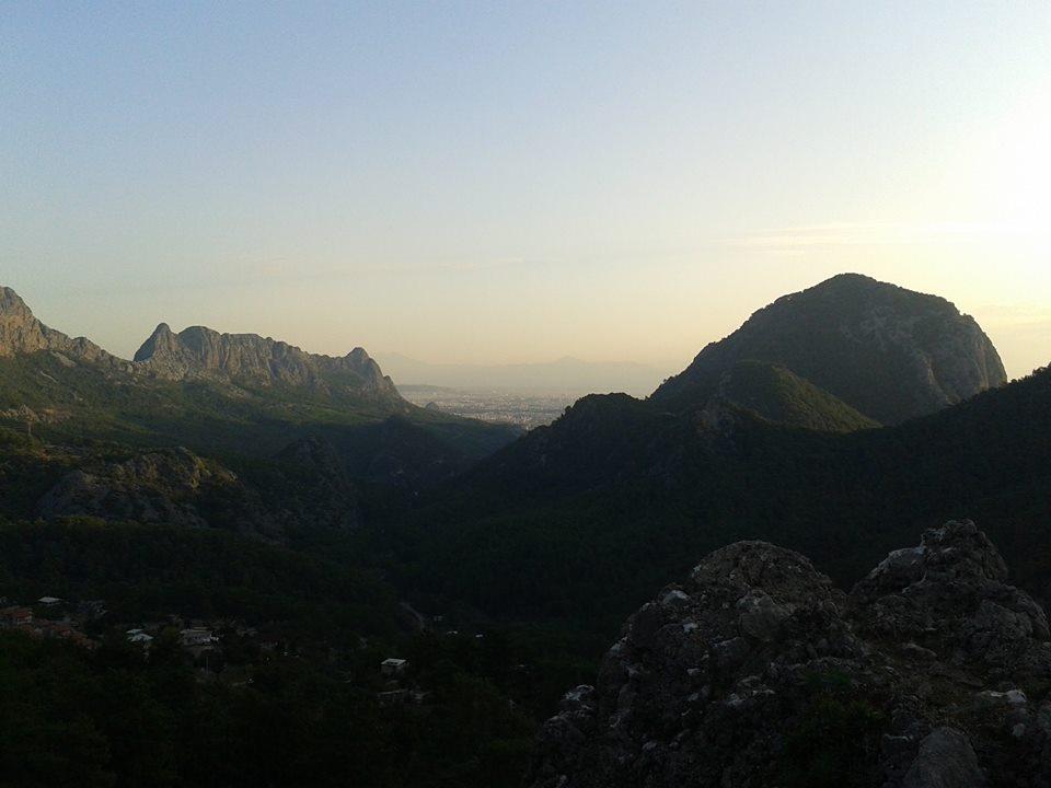 Kamp alanından gün batımı